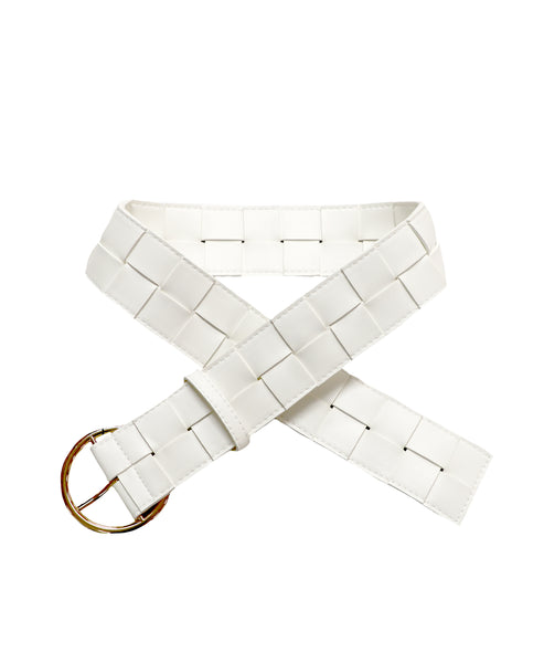 Zoom view for Woven Belt w/ Gold Ring Buckle