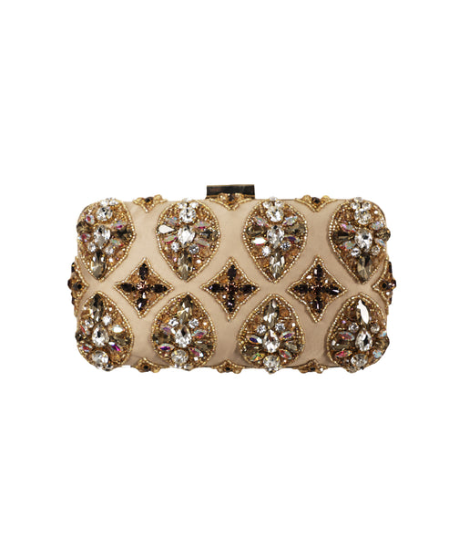 Multi Stone & Sequin Evening Clutch Bag