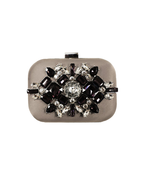 Cluster Stone Evening Clutch Bag