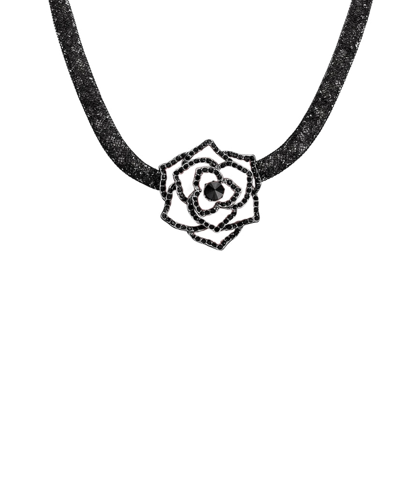 Collar Necklace w/ Rose