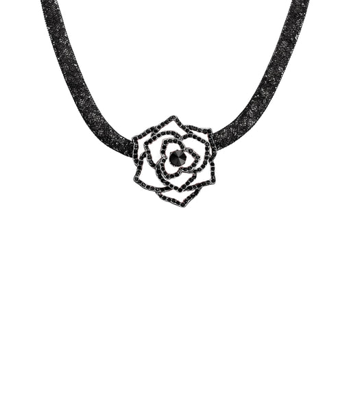 Zoom view for Collar Necklace w/ Rose