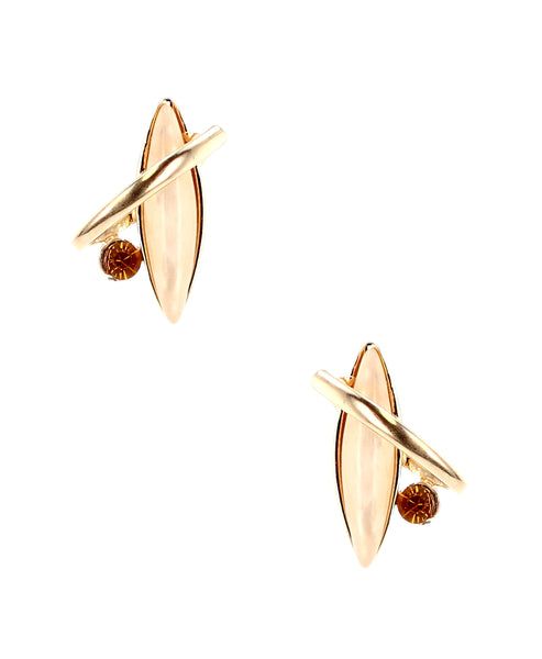 Zoom view for Abstract Metal Stud Earrings