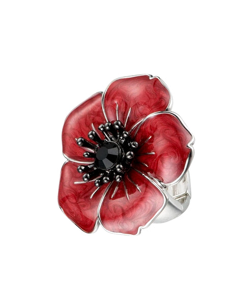 Zoom view for Poppy Flower Adjustable Ring