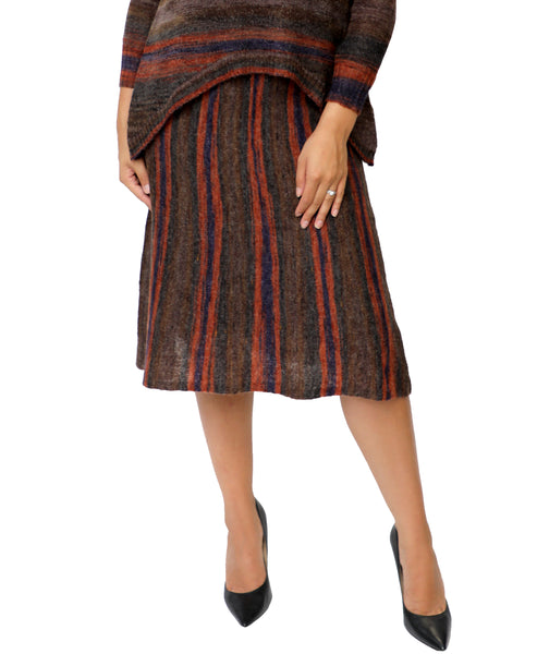 Zoom view for A-Line Stripe Knit Skirt A
