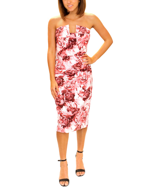 Zoom view for Floral Strapless Cocktail Dress