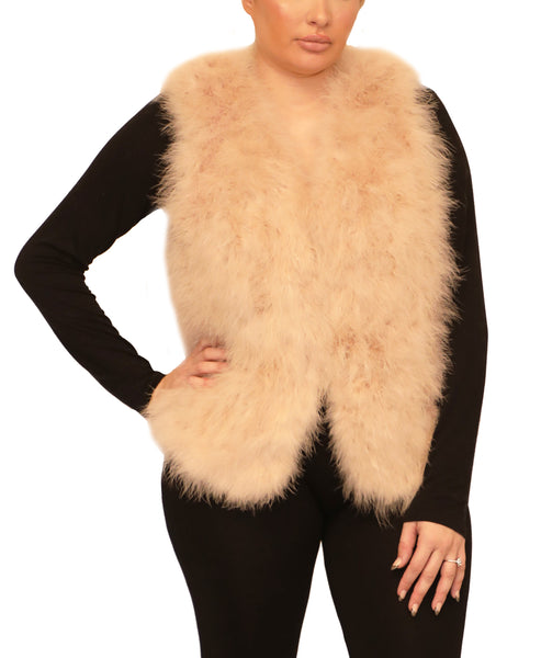 Ostrich Feather Vest - Fox's