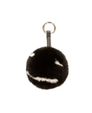 "Rex Rabbit Fur ""Smile"" Keychain / Bag Charm"