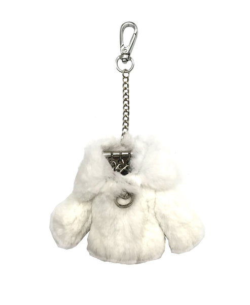 "Rex Rabbit Fur ""Coat"" Keychain / Bag Charm"
