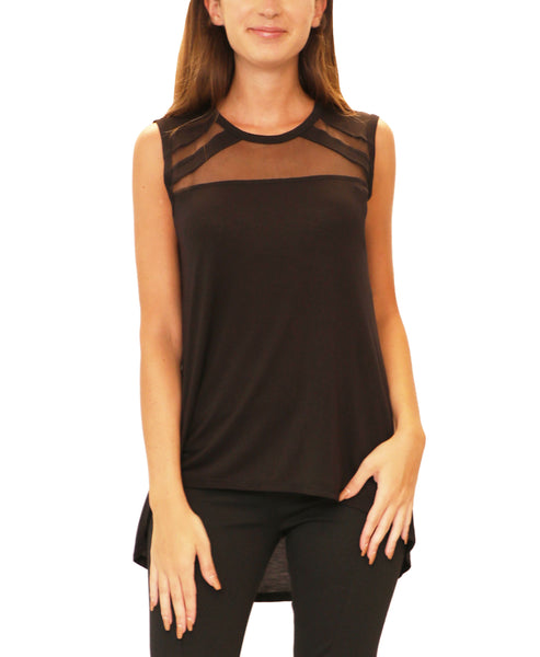 Hi-Lo Top w/ Mesh Inset - Fox's