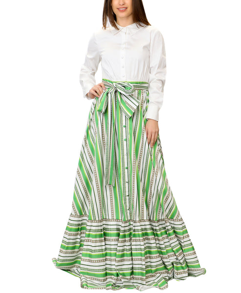 Zoom view for Stripe Maxi Shirt Dress A