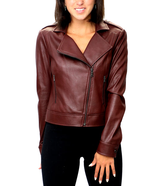 Zoom view for Faux Leather Moto Jacket