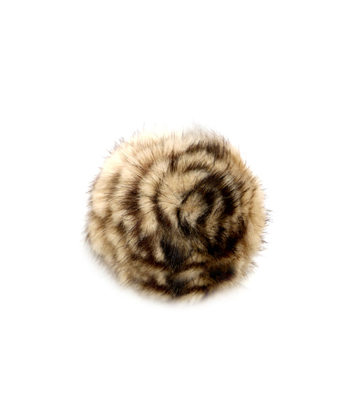 Zoom view for Mink Fur Flower Brooch A