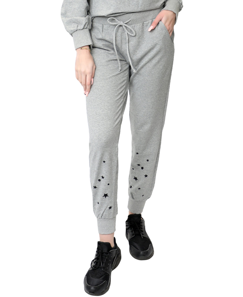 Star Embroidered Joggers
