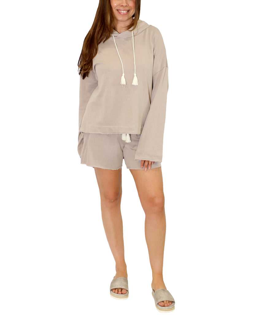 Drawstring Waist Sweat Shorts