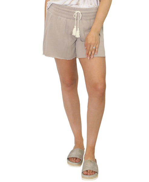 Zoom view for Drawstring Waist Sweat Shorts A