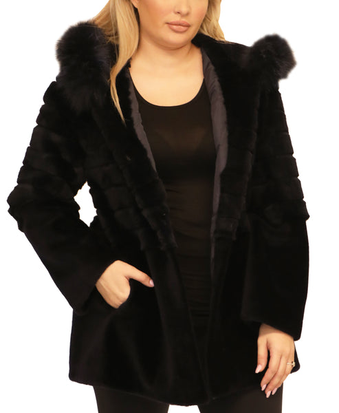 Shearling Coat w/ Fox Fur Trim - Fox's