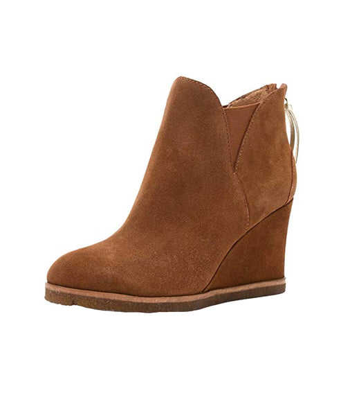 Suede Wedge Bootie - Fox's