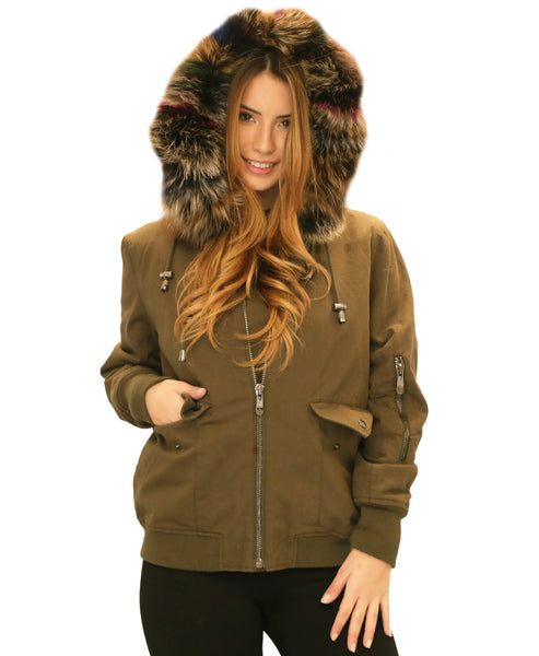 Parka Jacket w/ Rex Rabbit & Fox Fur Hood - Fox's
