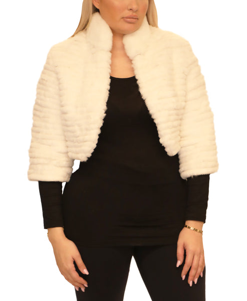 Cropped Layered Fur Bolero - Fox's
