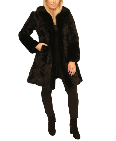 Curly Lambskin Coat - Fox's