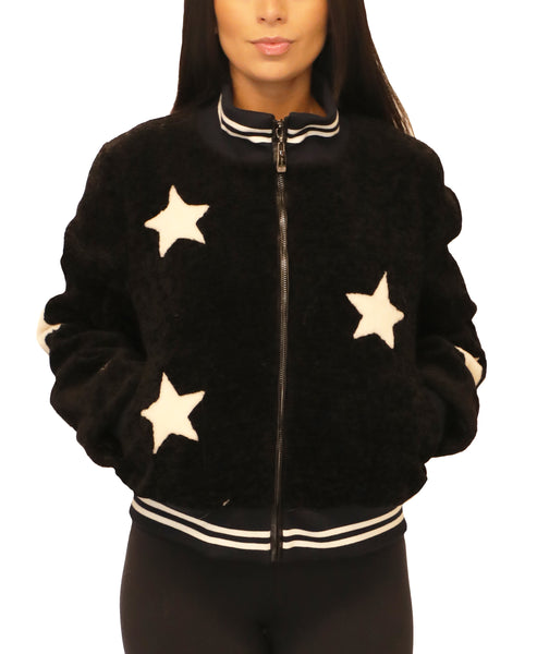 Star Baseball Sheepskin Jacket - Fox's
