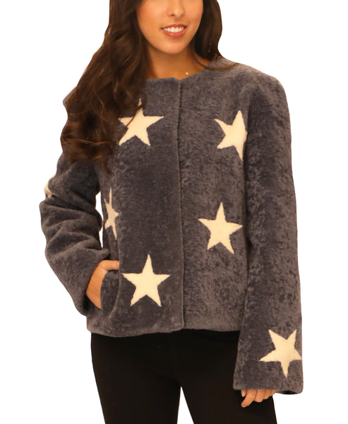 Star Sheepskin Jacket - Fox's