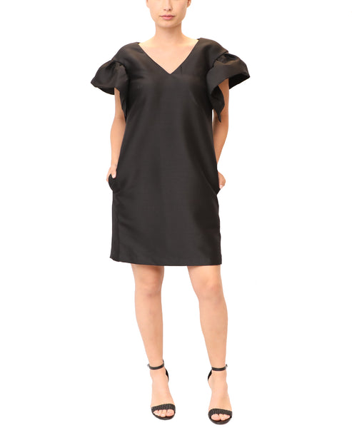Cocktail Dress w/ Ruffle Sleeves