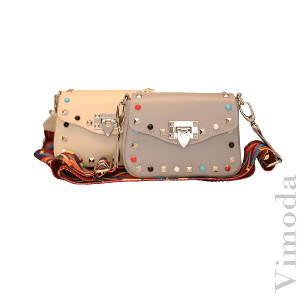 Crossbody Flap Bag w/ Guitar Strap