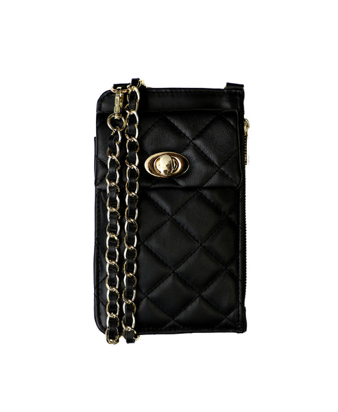 Zoom view for Leather Quilted Crossbody Handbag
