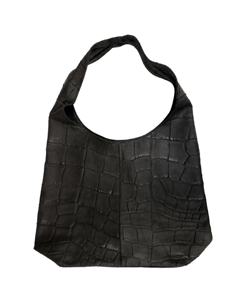 Zoom view for Leather Croco Embossed Oversized Hobo