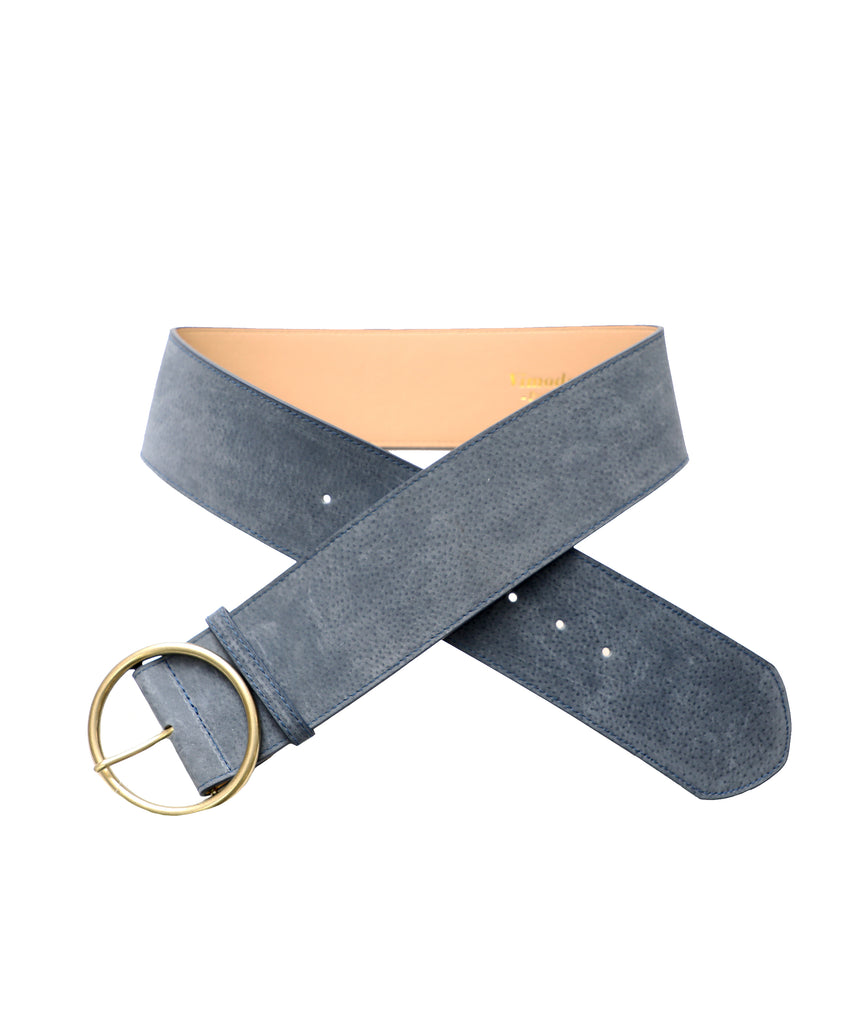 Suede Belt w/ Gold Ring