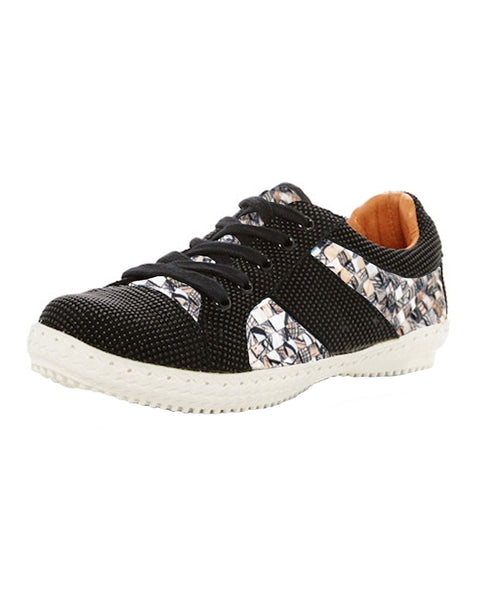 Woven Lace Up Sneaker