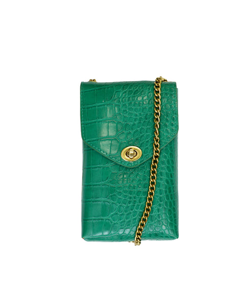 Zoom view for Croc Embossed Cell Phone Crossbody or Belt Bag