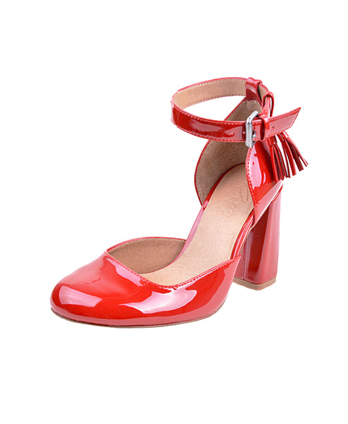 Patent Leather Ankle Strap Pump - Fox's