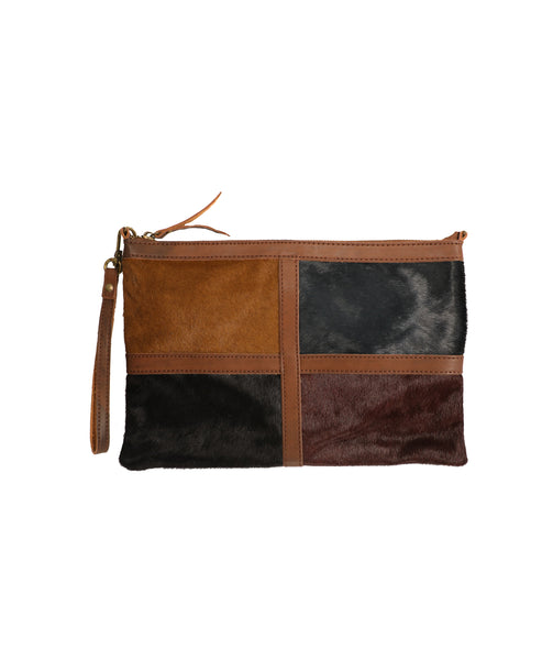 Pony Hair Colorblock Handbag