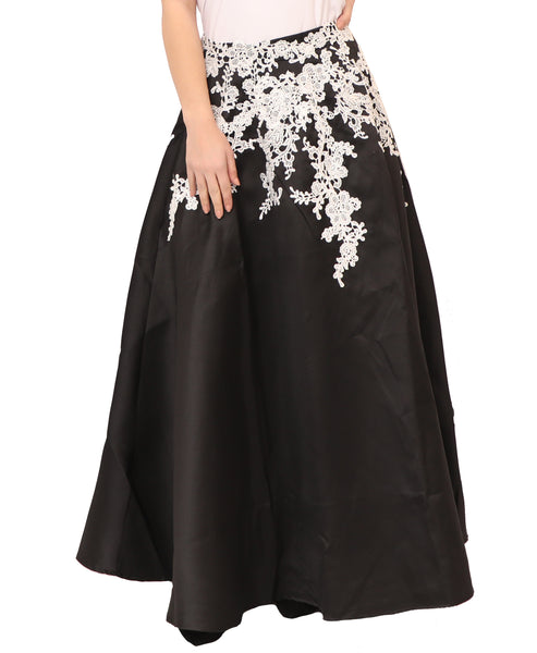 Ball Gown Skirt w/ Crochet Lace
