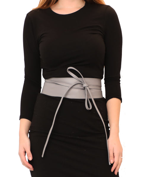 Zoom view for Leather Wrap Belt A