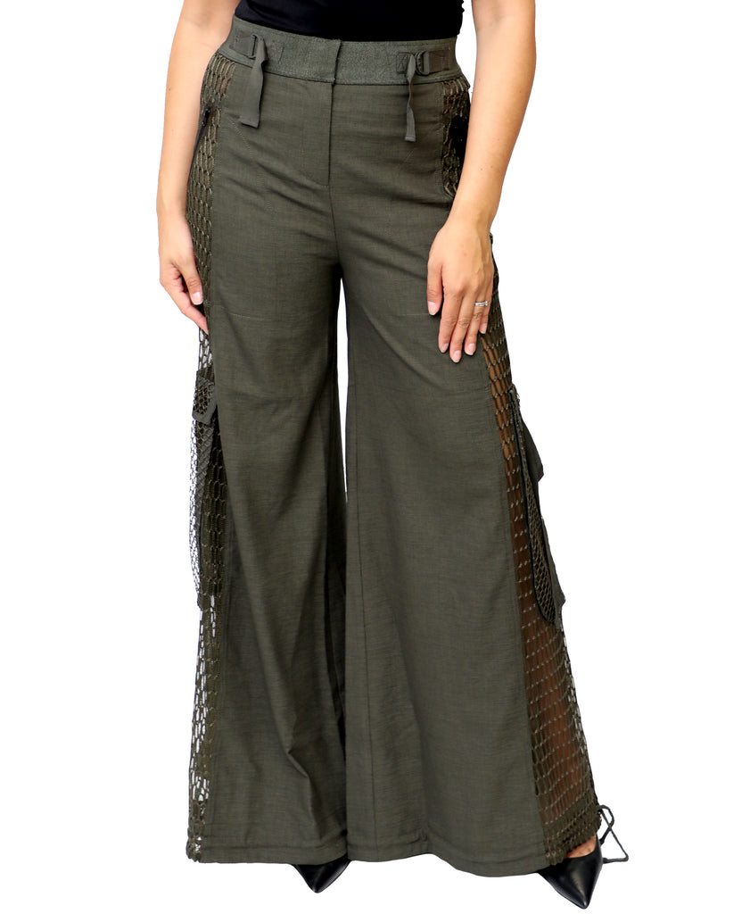Tailored Utility Wide Leg Pant