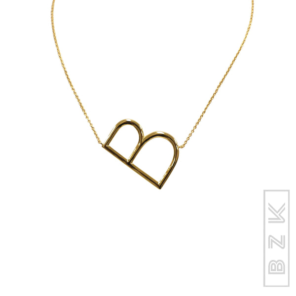 Zoom view for Sideways Initials Necklace-  ONLINE EXCLUSIVE - Fox's