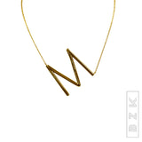 Sideways Initials Necklace-  ONLINE EXCLUSIVE