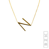 ONLINE EXCLUSIVE! Sideways Initials Necklace - Fox's