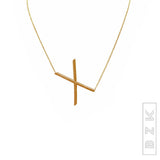 Sideways Initials Necklace-  ONLINE EXCLUSIVE - Fox's