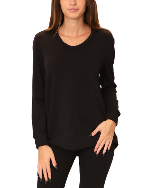 Scoop Neck Hi-Lo Tunic Top
