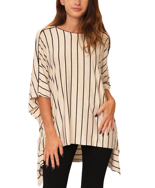 Striped Hi-Lo Tunic Top