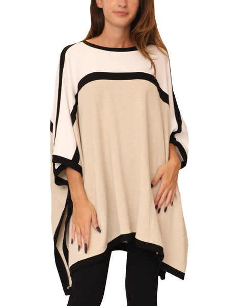 Colorblock Poncho Top - Fox's