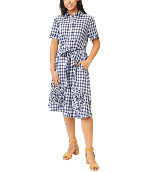 Zoom view for Checkered Shirt Dress - Fox's