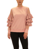 Top w/ Tiered Ruffle Sleeves