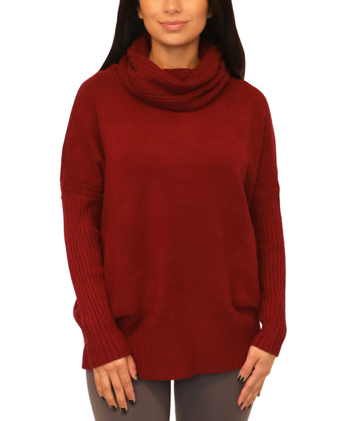 Cowl Neck Sweater - Fox's
