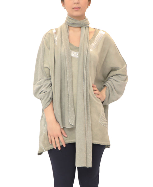 Dolman Sleeve Top & Matching Scarf Set