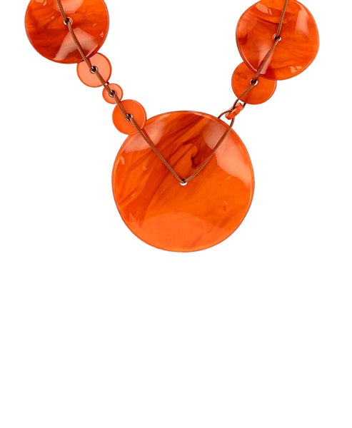 Zoom view for Circle Statement Necklace A
